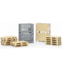 Логистический набор Bruder (ящики и паллеты) 02-415...