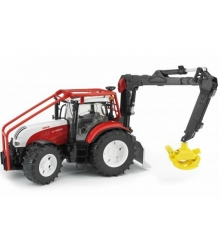 Трактор Steyr CVT 6230 лесной с манипулятором Bruder 03-092...