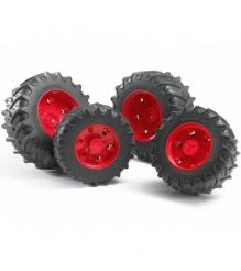 Шины для системы сдвоенных колёс с красными дисками Bruder (Брудер) 03-303...