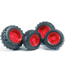 Шины для системы сдвоенных колёс с красными дисками Bruder 03-313...