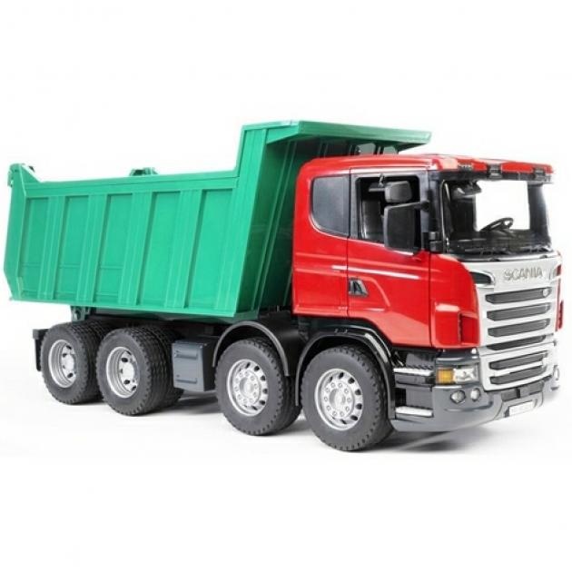 Самосвал Scania (подходит модуль со звуком и светом Bruder (Брудер) (Арт. 03-550)