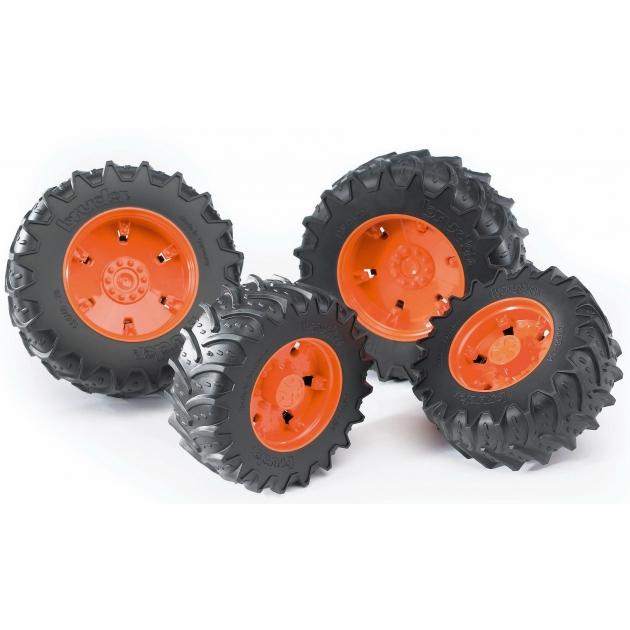 Колеса Bruder с оранжевыми дисками к тракторам серии 3000 03-312