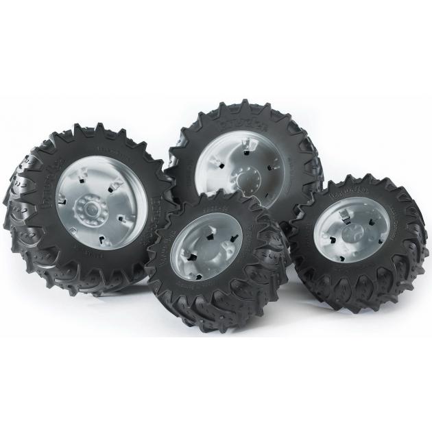 Колеса Bruder с серебристыми дисками к тракторам серии 3000 03-317