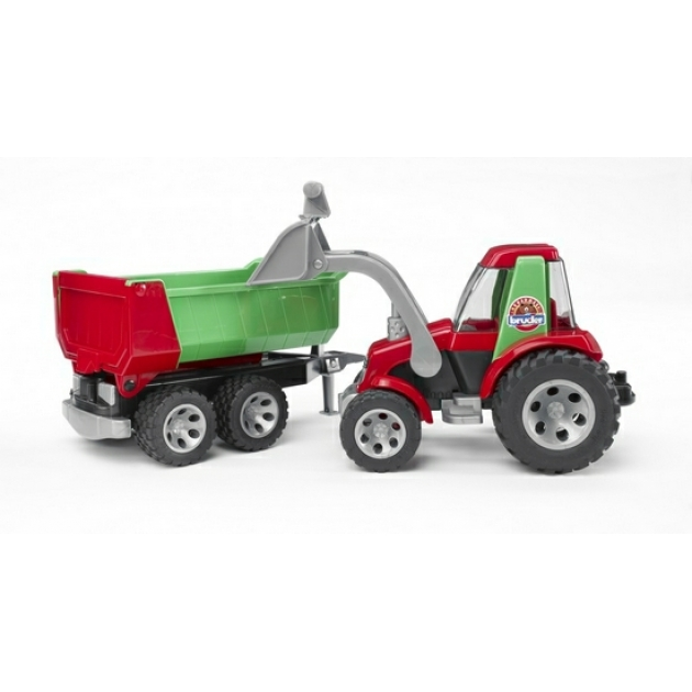 Roadmax Трактор с ковшом и прицепом Bruder (Брудер) (Арт. 20-116)