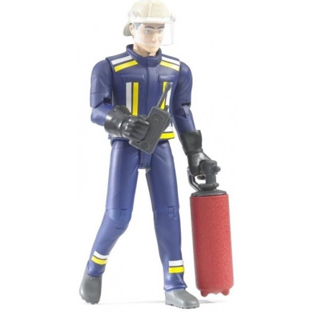 Фигурка пожарного 107мм с огнетушителем и рацией Bruder (Брудер) (Арт. 60-100)