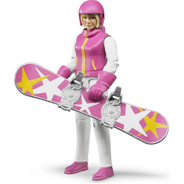 Фигурка сноубордистки Bruder 60-420