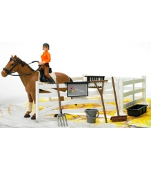 Игровой набор всадницы с загоном, лошадью и всадницей Bruder 62-500...