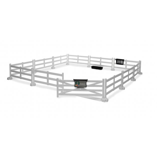 Загон для лошадей (белый, размер 54*54*8,5 см) Bruder 62-502/62-504