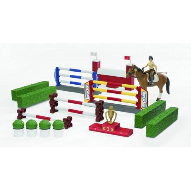 Большой набор для скачек с фигуркой всадницы и лошадью Bruder (Брудер) (Арт. 62-530)