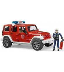 Внедорожник Bruder Jeep Wrangler Unlimited Rubicon Пожарная с фигуркой 02-528...