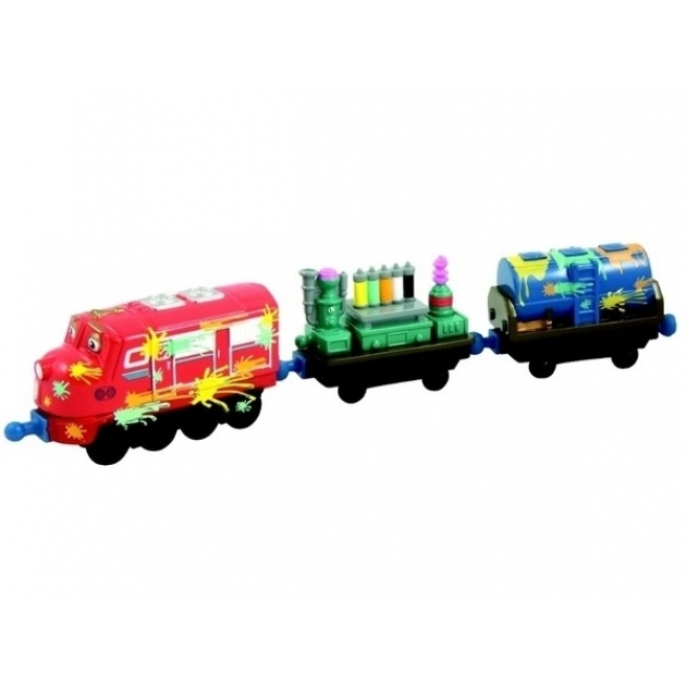 Паровозик  Чаггингтон Уилсон и 2 вагончика с краской LC54053