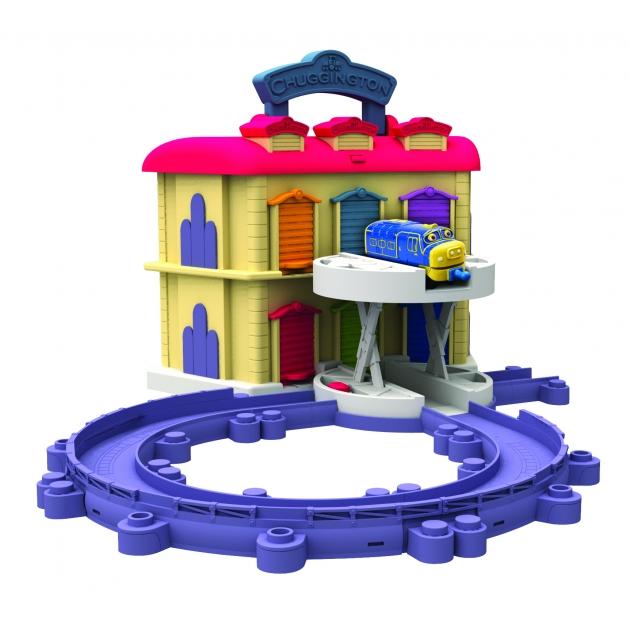 Игровой набор Чаггингтон Двухэтажное депо с Брюстером LC54217