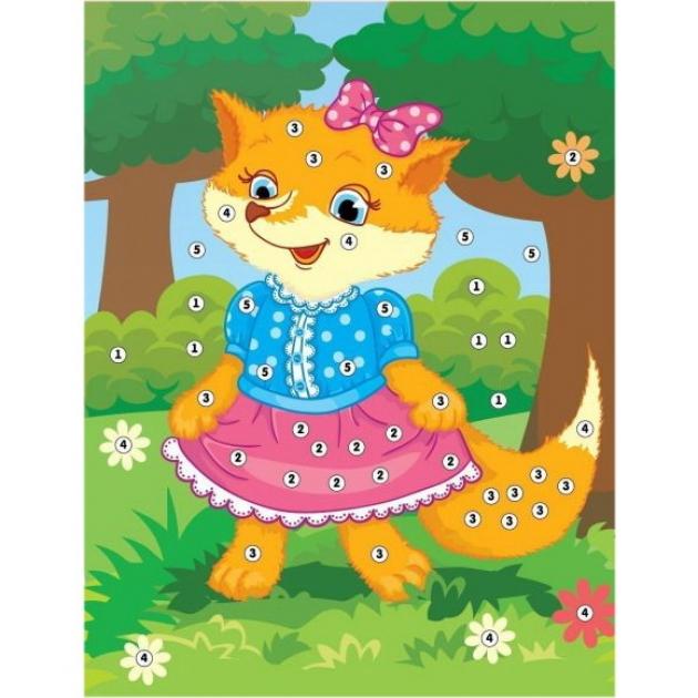 Аппликация по номерам Color Puppy лисичка-сестричка
