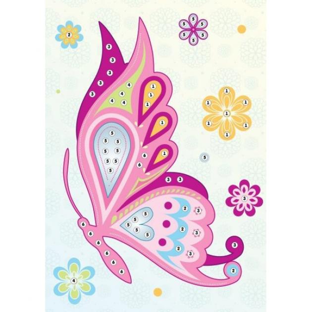 Аппликация по номерам Color Puppy бабочка