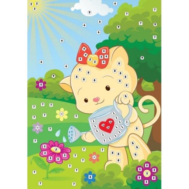 Аппликация по номерам Color Puppy кошечка-садовник