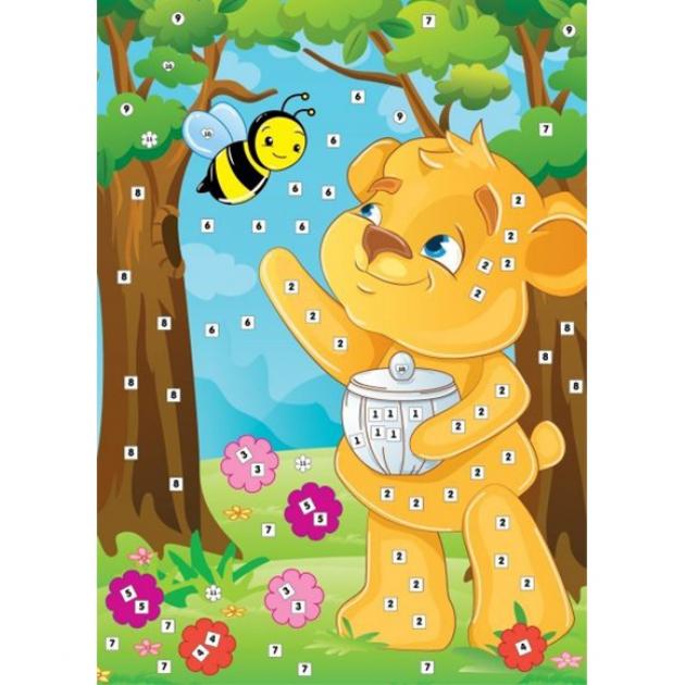 Аппликация по номерам Color Puppy пчелкин мед
