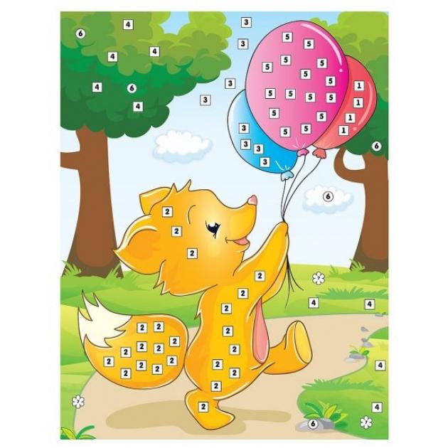 Аппликация по номерам Color Puppy лисенок на прогулке