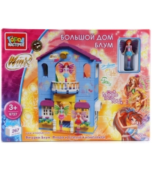 Детский конструктор Город Мастеров Winx Большой Дом Блум BB-6727-R