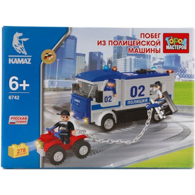 Детский конструктор Город Мастеров Побег из Полицейской Машины BB-6742-R