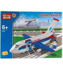 Детский конструктор Город Мастеров Авиалайнер BB-6747-R