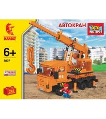 Детский конструктор Город Мастеров Автокран Камаз BB-8807-R1...