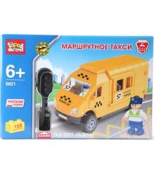 Детский конструктор Город Мастеров Маршрутное Такси Газель BB-8821-RL
