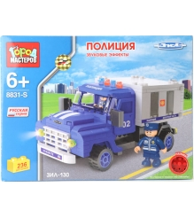 Детский конструктор Город Мастеров Зил Полиция со Звуком BB-8831-RS...