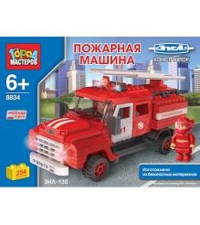 Детский конструктор Город Мастеров Пожарная Машина с Лестницей BB-8834-R