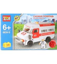 Детский конструктор Город Мастеров Скорая Помощь со Звуком BB-8839-RS