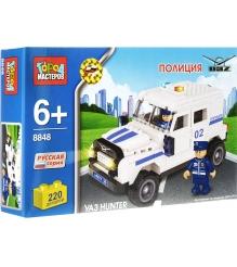 Детский конструктор Город Мастеров Полиция Уаз Hunter BB-8848-R...