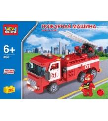 Детский конструктор Город Мастеров Пожарная Машина со Звуком и Светом BB-8859-RS