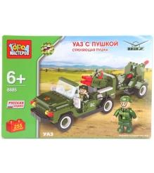 Детский конструктор Город Мастеров Уаз с Пушкой BB-8885-R...