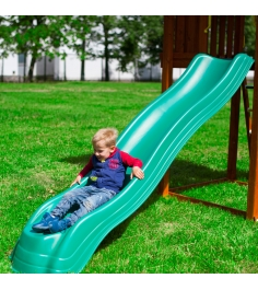 Горка пластиковая Jungle Gym Extreme wave slide green