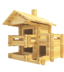 Конструктор Лесовичок Разборный домик №3 набор из 150 деталей les 003...