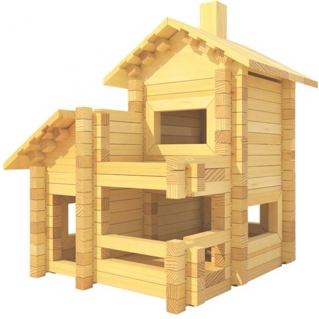 Конструктор Лесовичок Разборный домик №4 набор из 200 деталей les 004