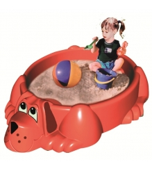 Детская песочница бассейн с крышкой Собачка 432 Marian Plast...