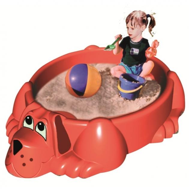 Детская песочница бассейн с крышкой Собачка 432 Marian Plast