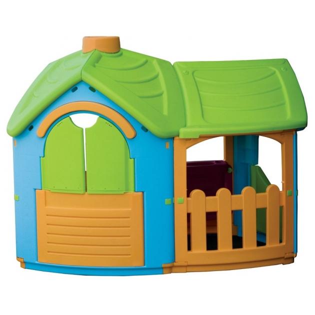 Детский домик вилла с пристройкой Marian Plast 662
