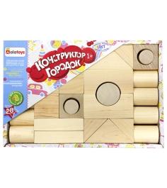 Деревянный конструктор для маленьких Alatoys город...