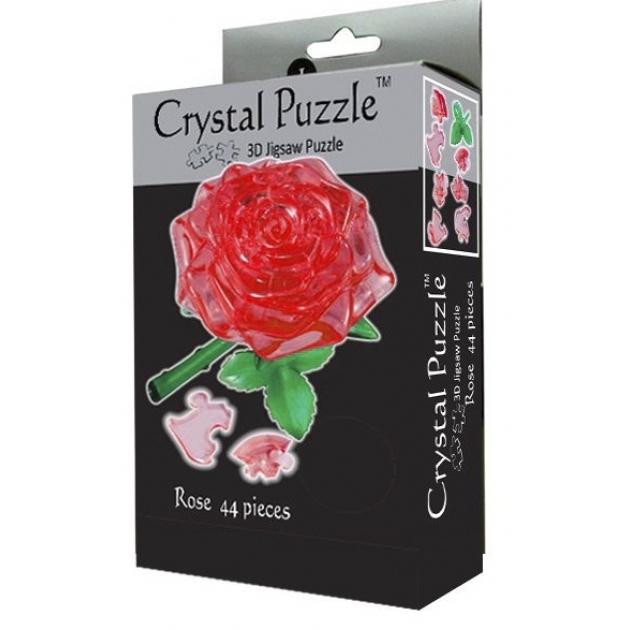 Игра головоломка Crystal puzzle роза красная 90113