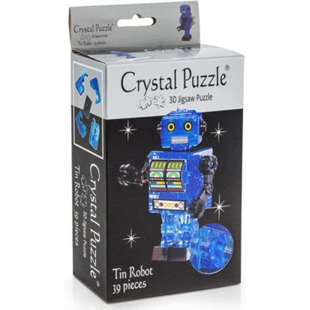 Игра головоломка Crystal puzzle робот синий 90351