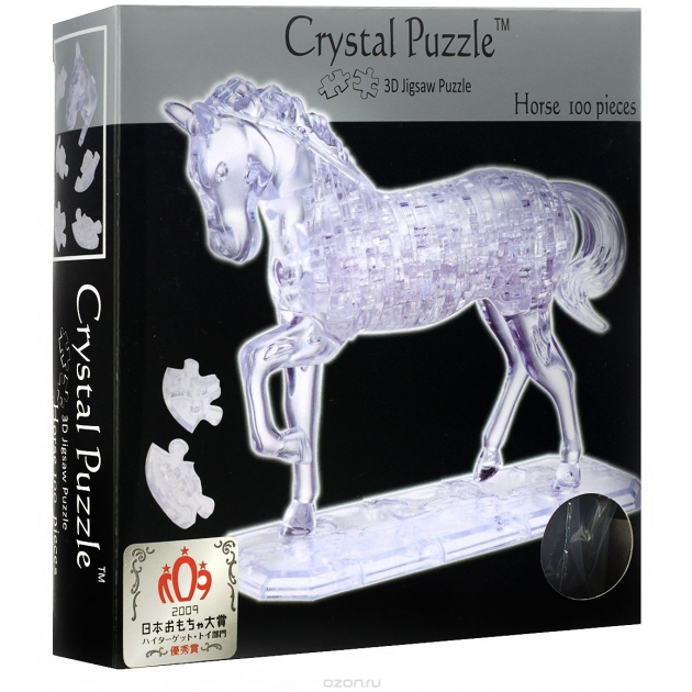 Игра головоломка Crystal puzzle лошадь неоновая артикул 91001