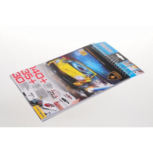 Блокнот с трафаретами Lamborghini Design Masters 7001
