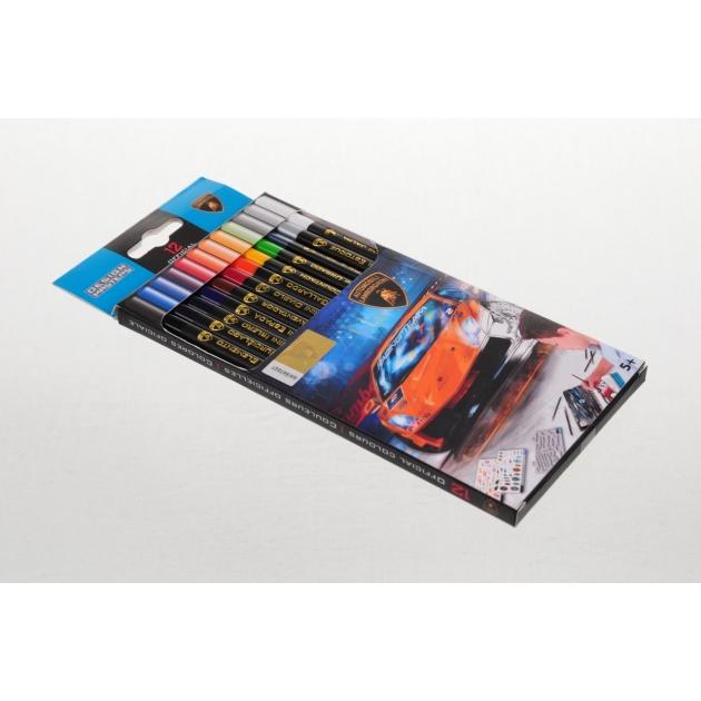 Набор карандашей для творчества Lamborghini  12шт Design Masters 7003
