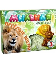 Набор для мыловарения Инновации для детей мыльная мастерская веселые звери 748