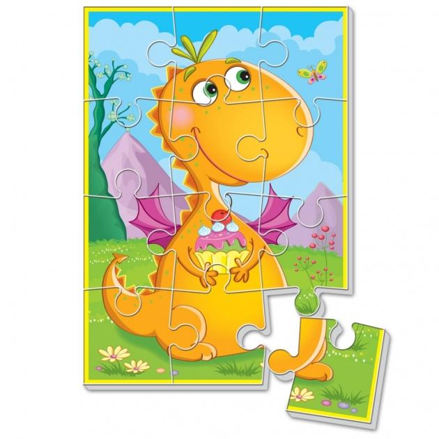 Пазлы для малышей Vladi Toys динозаврик с пирожным а5 артикул VT1103-51