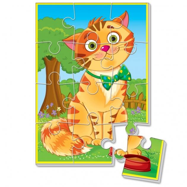 Пазлы для малышей Vladi Toys котик а5 артикул VT1103-52