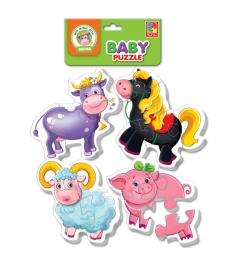 Пазлы для малышей Vladi Toys ферма артикул VT1106-...