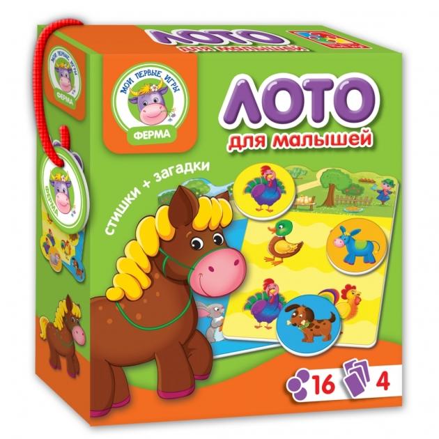Обучающая настольная игра Vladi Toys ферма лото артикул VT2100-01