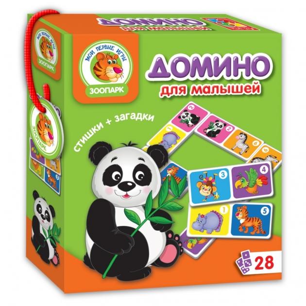 Обучающая настольная игра Vladi Toys зоопарк домино артикул VT2100-02